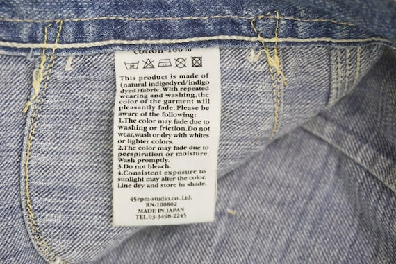 """45Rpm Jeans Size 31"""" 45Rpm Ripped Jeans Japanese … - image 8"""