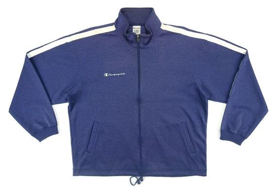 Champion Sz M Retro Gray /& Black Basketball Track Full Zip Jacket Logo