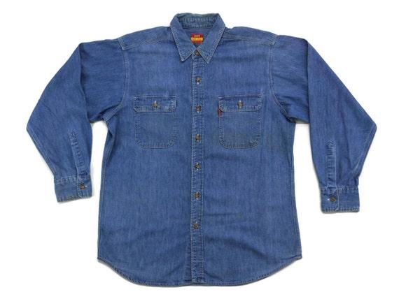 Levis Denim Shirt Men's Size M Levis Work Wear Shi