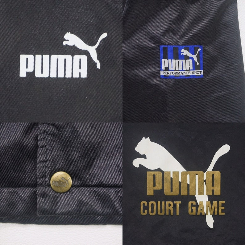 636ac790df4f2 Puma Jacket Vintage Puma Hooded Parka Puma Spellout Court Game Men's Size  160