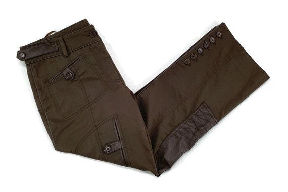 DKNY Pants Size 14 W37xL29 DKNY Lambskin Patchwork