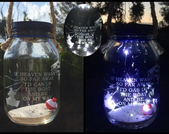 Cemetery Decoration Solar Light Loss Of Dad Fisherman Memorial Grave In Memory Sportsman Lantern Bereavement Gift