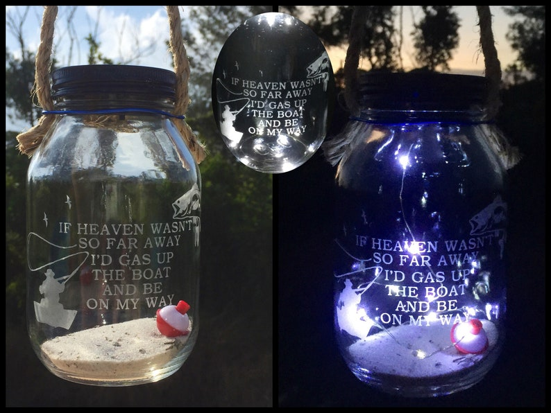Cemetery Decoration Solar Light Loss Of Dad Fisherman Memorial Etsy