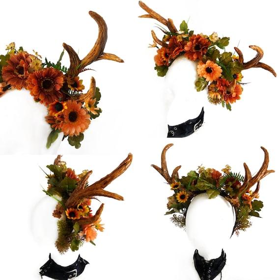 nature Crown Faun headpiece.Demon of the forest Horn Headband Festival Cosplay fairy headband Satyr horns READY TO SHIP!