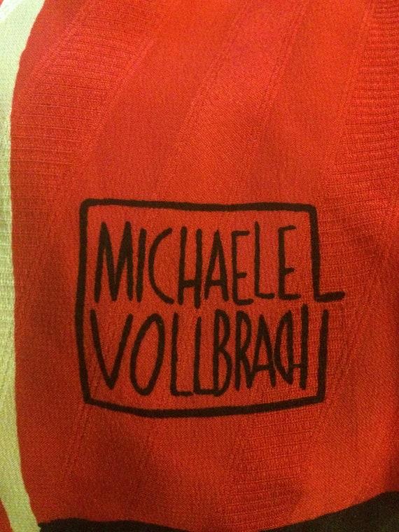Michaele Vollbracht 1980s Red Yellow Black Silk M… - image 6