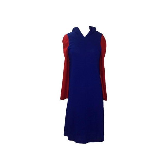 Stephen Burrows VTG 60s Blue and Red Colorblock Ho