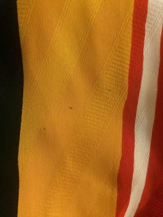 Michaele Vollbracht 1980s Red Yellow Black Silk M… - image 8