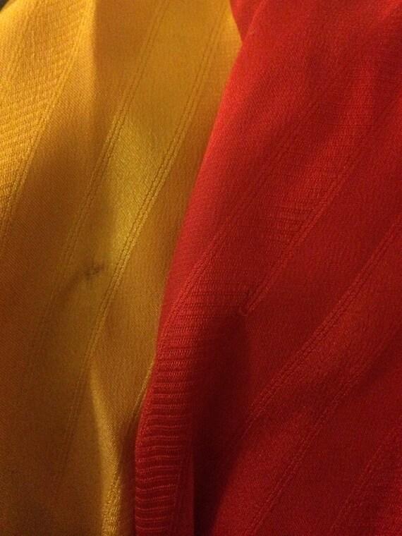 Michaele Vollbracht 1980s Red Yellow Black Silk M… - image 9