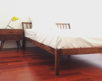 Platform Bed Frame Solid Cherry Danish Mid Century Modern | Etsy