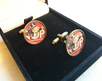 Made using Upcycled Monopoly Board Pieces Quirky Handmade Cufflinks Nostalgic Gift Idea with Giftbox