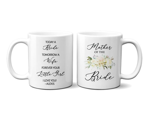 personalized coffee cup with names mother of the bride gift 15oz