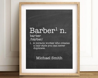Personalized Barber Print | Barber Shop Decor | Profession Gift | Coworker Gift | Personalized Gift For Your Barber