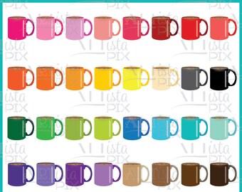 Coffee Mug Clipart, Coffee Clipart, Mug Clipart, Digital Download, Instant Download, Cup of Joe Clipart