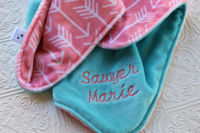 Baby Blanket Personalized Baby Blanket Baby Girl or Boy | Etsy