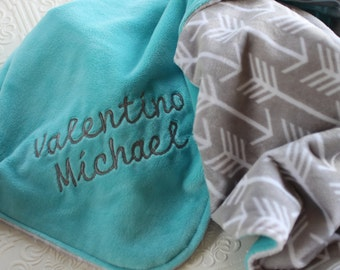 Baby Blankets, Baby Shower Gift, Baby Blanket with Name, Baby Blankets Personalized, Arrows, Minky Baby Blanket, Nursery Decor, Newborn Gift