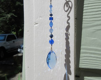 Swarovski crystal pendulum/sun catcher/prism blue