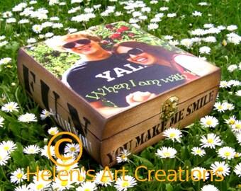 Wedding Keepsake Box, Personalized Keepsake Box, Custom Box, Anniversay Gift, Memorial Box, Best Friends, Heirloom, Fathers Day, Mothers Day