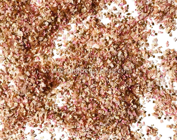 Pink & Gold Confetti Mix Biodegradable Eco Friendly Paper InsideMyNest (3 litres)