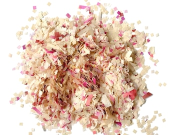 Warm ivory & berry biodegradable tissue paper confetti mix