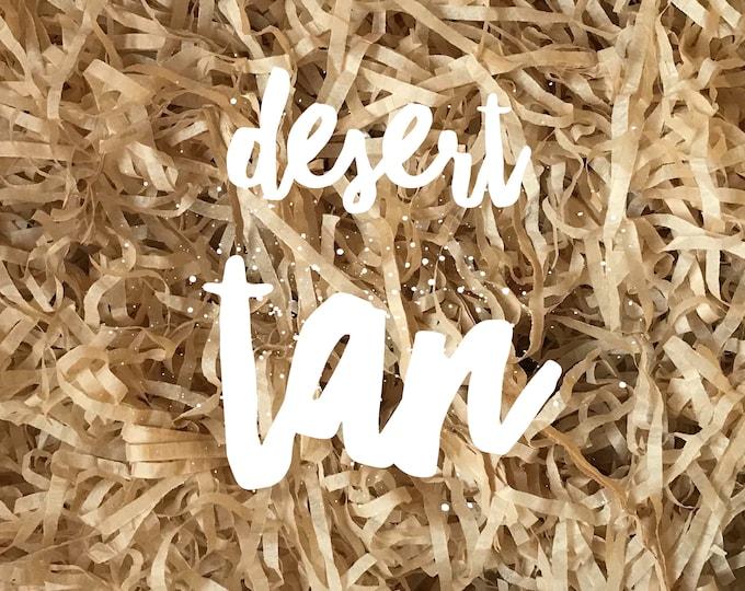 Desert Tan Shredded Tissue Paper Shred Box Filler Hamper Gift Basket Filler Acid-free Colourfast