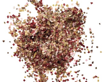 Blush Burgundy Gold & Rose Gold Confetti Mix (Biodegradable)