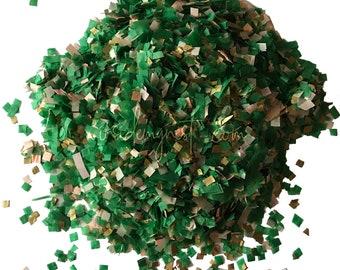 Emerald Green Peach Gold Biodegradable Confetti Throwing Bulk Wholesale Wedding Party Decorations Decor Art Craft Embellishments