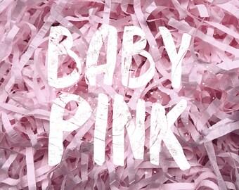 Baby Pink Shredded Tissue Paper Shred Box Filler Hamper Gift Basket Filler Acid-free Colourfast