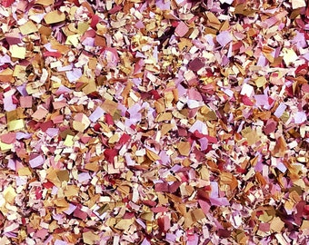 Lilac Blush Dusty Rose Gold Rose Gold Confetti Mix (Biodegradable) Wedding Party Bridal Shower
