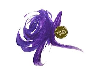 DIGITAL Purple Watercolour Rose Flower Clipart Floral Downloadable Printable PNG 300dpi DIY Wedding InsideMyNest