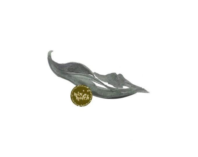DIGITAL Sage Green Blue Watercolour Leaf Clipart Logo Download PNG 300dpi DIY Craft Scrapbooking Invitation Card Making