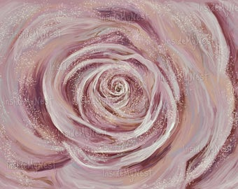 Printable Wall Art Blush Rose Oil Painting Digital Print Floral Nursery Print Home Decor 300dpi