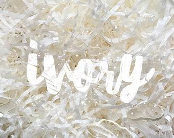 Ivory Shredded Tissue Paper Shred Box Filler Hamper Gift Basket Filler Acid-free Colourfast