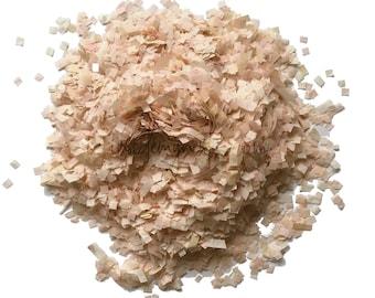 Peach blush biodegradable tissue paper confetti mix