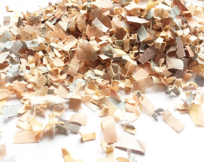 Peach, Rose Gold & Charcoal Confetti Biodegradable Winter Wedding Decoration DIY Craft (25 Guests)