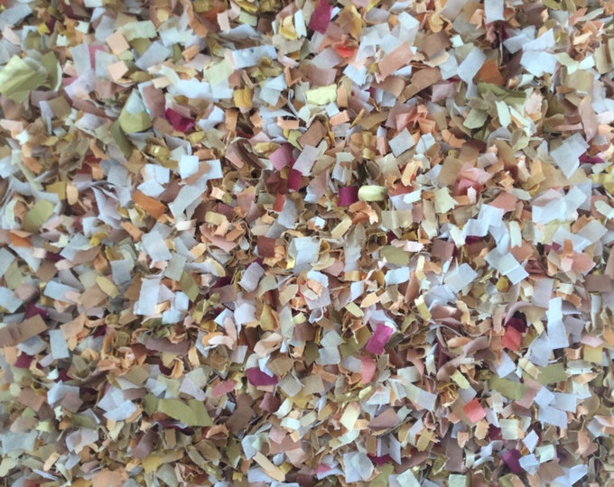 Peach Burgundy Gold & Ivory Biodegradable Confetti Baby Girl Shower Wedding Shower Decoration Throwing Send Off (25 Guests)