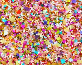 Bright Floral Confetti Mix (Biodegradable) Multicoloured Colourful Wedding Party Decorations Decor