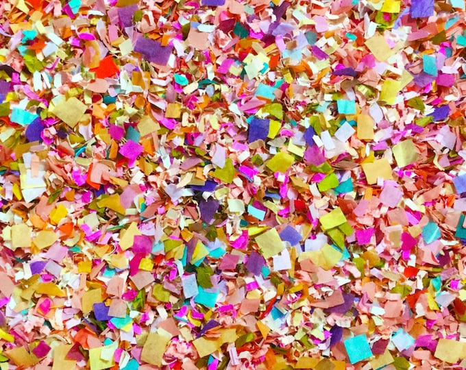 Confetti Biodegradable Bright Floral Multicoloured Colourful Fun Wedding Party Decorations Decor InsideMyNest (25 Guests)