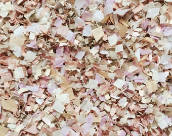 Blush Champagne Ivory Wedding Confetti Mix Pale Dusty Pink Biodegradable Decorations Bridal Baby Girl