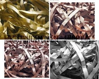 Metallic Tissue Paper Shred Rose Gold Copper Gold Silver Christmas Gift Box Basket Filler Hamper Premium Quality Doublesided Colourfast FSC