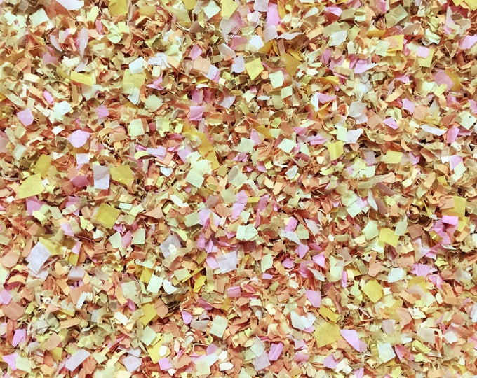 Pastel Pink Peach Yellow Confetti Biodegradable Wedding Decorations Baby Decor Tissue Recycled Paper InsideMyNest (25 Guests)