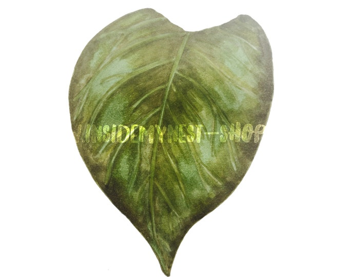 DIGITAL Watercolour Leaf Clipart Vintage Flowers Olive Green Floral Download PNG 300dpi DIY Craft Scrapbooking Invitation Card Making