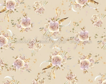 Soft Blush Champagne Ivory Vintage Shabby Cottage Chic Floral Background Digital Art Watercolour (Large - A2 - 23.40x16.50 - 300dpi)