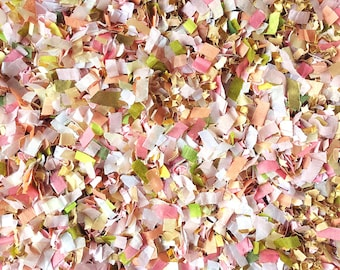 French Garden Wedding Theme Confetti Dusty Pink Peach Gold Ivory Floral Party Decorations Decor Throwing Table InsideMyNest (25 Guests)