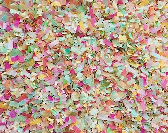 Peach Mint Pink Ivory Gold Confetti Biodegradable Eco Environmentally Friendly Wedding Party Bridal Shower InsideMyNest (25 Guests)