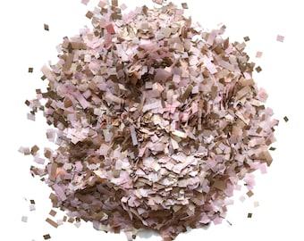 Blush Rose Gold Biodegradable Tissue Paper Confetti Mix