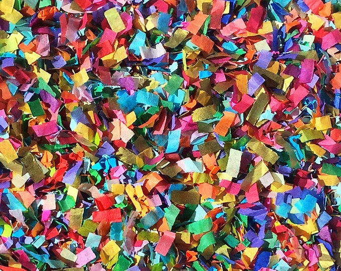 Vibrant Confetti Mix Biodegradable Colourful Multicoloured Blue Red Pink Orange Green Yellow Party Decorations InsideMyNest (25 Guests)