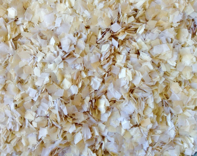 White Ivory Wedding Confetti Mix Biodegradable Compostable Eco Friendly InsideMyNest (25 Guests)