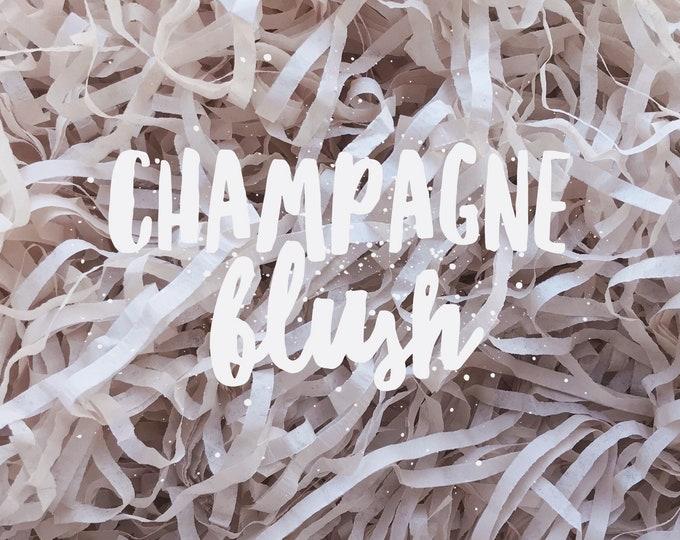 Champagne Blush Shredded Tissue Paper Shred Box Filler Neutral Hamper Gift Basket Filler Acid-free Colourfast