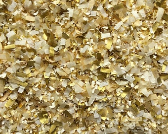 Gold Ivory Confetti Wedding Bridal Shower Biodegradable Eco Party Decorations Bulk Packs