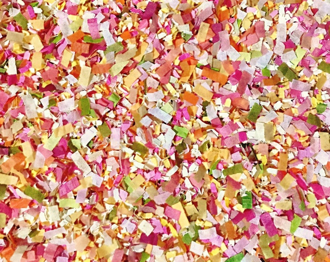 Pink Apricot Floral Confetti Biodegradable Wedding Girl Party Decorations Gender Reveal Decor InsideMyNest (25 Guests)
